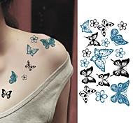 economico -10 pcs Tatuaggi adesivi Tatuaggi temporanei Serie animali arti del corpo braccio