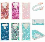 economico -telefono Custodia Per LG Per retro LG V30 LG V20 LG K10 2018 LG K10 (2017) LG K8 (2017) Resistente agli urti Liquido a cascata Glitterato Morbido TPU