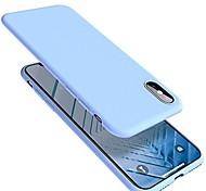 economico -telefono Custodia Per Apple Per retro iPhone X iPhone 8 Plus iPhone 8 iPhone 7 Plus iPhone 7 Ultra sottile Tinta unica Morbido Silicone Gel di silice