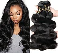 abordables -Lot de 3 Tissage de cheveux Cheveux Brésiliens Ondulation naturelle Extensions de cheveux Naturel humains Cheveux Naturel Rémy Paquets de 100% Remy Hair Weave 300 g Tissages de cheveux humains / 10A