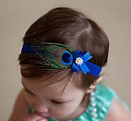 abordables -Bébé Fille Doux Quotidien Plumes Noeud Polyester Accessoires Cheveux Violet / Fuchsia / Bleu royal Taille unique / Elastique