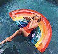 abordables -Jouets Gonflables de Piscine Flotteur de piscine Flotteurs de piscine Amusement Gonflable Géant PVC Eté Arc-en-ciel Plage Fête de la piscine Homme Femme Adultes