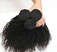 abordables -Lot de 3 Tissage de cheveux Cheveux Indiens Kinky Curly Extensions de cheveux humains Cheveux Naturel Rémy 100% faisceaux d'armure de cheveux remy 300 g Tissages de cheveux humains Extensions de / 8A
