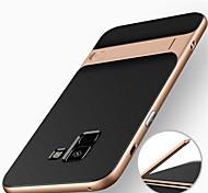 economico -telefono Custodia Per Samsung Galaxy Per retro A8 2018 A8+ 2018 Resistente agli urti Con supporto Armatura Armatura Resistente PC
