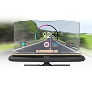 economico -ZIQIAO 6 pollice Head Up Display GPS / Pieghevole / Display multifunzione per Auto / Autobus / Camion Visualizza KM / h MPH / Plastica ABS
