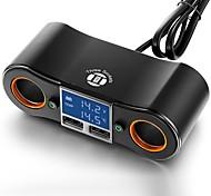 economico -multi caricatore usb splitter di estensione presa a 2 vie per auto adattatore dc12v / 24v per tutti gli accessori per smartphone