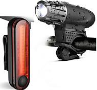abordables -LED Eclairage de Velo Kit Eclairage Bicyclette Vélo Rechargeable Eclairage de Vélo Arrière Eclairage sécurité / feu clignotant velo VTT Vélo tout terrain Vélo Cyclisme Imperméable Portable / USB
