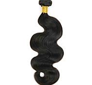 economico -1 pacchetto Tesse per capelli Brasiliano Ondulato Estensioni dei capelli umani Cappelli veri Extension di capelli umani 8-28 pollice Colore Naturale Estensione / 8A