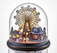 abordables -Maison de Poupées Romance Grande roue Créatif avec LED Unique Cristal Verre Femme Fille Enfant Adultes 1 pcs Cadeaux de fin d'études Jouet Cadeau