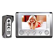 abordables -mountainone 7 pouces tft vidéo interphone sonnette intercom kit 1 caméra vision nocturne 1 moniteur avec caméra HD hd 700tvl écran lcd fixé au mur mains libres