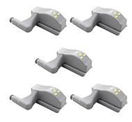 abordables -5 pcs lumière charnière led lumière universel intelligent fort lampe à induction magnétique pour armoire armoire armoires tiroirs