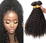 abordables -Lot de 3 Tissage de cheveux Cheveux Brésiliens Bouclé Extensions de cheveux Naturel humains Cheveux Naturel Rémy Paquets de 100% Remy Hair Weave 300 g Tissages de cheveux humains Extensions Naturelles