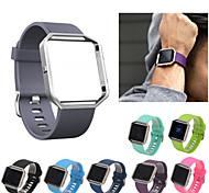 economico -Cinturino intelligente per Fitbit 1 pcs Cinturino sportivo Silicone Sostituzione Custodia con cinturino a strappo per Fitbit Blaze