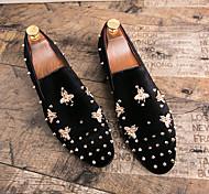abordables -Homme Mocassins et Chaussons+D6148 Chaussures formelles Mariage Soirée & Evénement Daim Noir Rouge Automne hiver