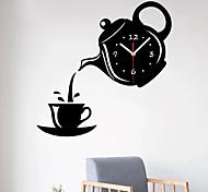 economico -moderno / contemporaneo in plastica e metallo irregolare da interno / esterno, orologio da parete alimentato a batterie aa 31 cm * 32 cm