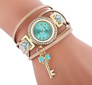 economico -Per donna Orologio braccialetto avvolgere l'orologio Analogico Quarzo Donne Orologio casual imitazione diamante / Un anno / Di similpelle trapuntata