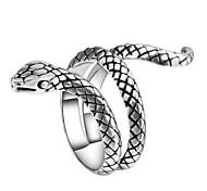 abordables -Bague Fantaisie Grosse Sculpture Argent Alliage Serpent Animal Rétro Vintage Punk Tendance 1 pc 7 8 9 10 / Homme / Bague / Anneaux
