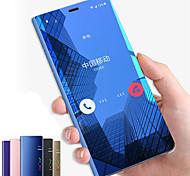 economico -telefono Custodia Per Samsung Galaxy Integrale Custodia flip Nota 9 Nota 8 Nota 5 Con supporto A specchio Con chiusura magnetica Tinta unica Resistente PC