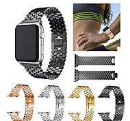 economico -Cinturino intelligente per Apple  iWatch 1 pcs Cinturino sportivo Acciaio inossidabile Sostituzione Custodia con cinturino a strappo per Apple Watch Serie SE / 6/5/4/3/2/1 38 millimetri 40 mm 42
