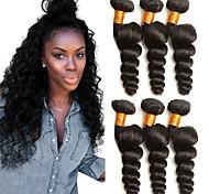 abordables -Lot de 3 Tissage de cheveux Cheveux Brésiliens Ondulation Lâche Extensions de cheveux Naturel humains Cheveux Naturel Rémy Paquets de 100% Remy Hair Weave 300 g Tissages de cheveux humains Extensions
