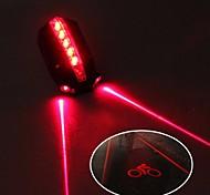 abordables -Laser Eclairage de Velo Eclairage de Vélo Arrière Eclairage sécurité / feu clignotant velo VTT Vélo tout terrain Vélo Cyclisme Imperméable Ajustable Frais Largage rapide 50 lm 2 Piles AAA Rouge