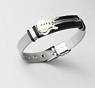 abordables -Manchettes Bracelets Bracelet de métier à tisser Bracelet à maillons Homme Classique Tendance Plaqué Or 18 Carats Acier Inoxydable Musique Créatif Guitare Gros Fantaisie unique Mode Bracelet Bijoux