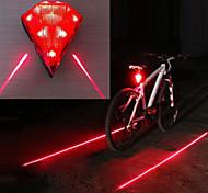 abordables -Laser LED Eclairage de Velo Eclairage de Vélo Arrière Eclairage sécurité / feu clignotant velo VTT Vélo tout terrain Vélo Cyclisme Imperméable Modes multiples Super brillant Portable 14500 20 lm