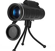 abordables -10 X 40 mm Monoculaire Imperméable Vision nocturne en basse lumière Multi-traitées BAK4 Chasse Activités Extérieures Camping / Randonnée / Spéléologie faux cuir / Observation d'Oiseaux