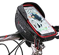 economico -Wheel up Bag Cell Phone Sacca da manubrio bici 6 pollice Schermo touch Riflessivo Ciclismo per Ciclismo iPhone X iPhone XR Rosso Nero Mountain bike Bici da strada / iPhone XS / iPhone XS Max