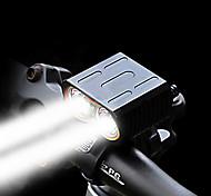 abordables -Double LED Eclairage de Velo Eclairage de Vélo Avant Phare Avant de Moto LED Vélo Cyclisme Imperméable Modes multiples Super brillant Portable Batterie Li-ion rechargeable 1600 lm Batteries