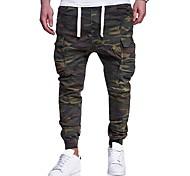 economico -Per uomo Attivo Essenziale Militare Fine settimana Pantaloni della tuta Carico tattico Pantaloni Camouflage Lunghezza intera Con stampe Verde militare