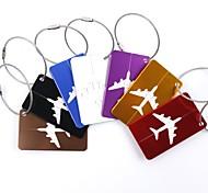 economico -Targhetta per valigia Accessori per valigia Lega di alluminio 1pc Nero Dorato Bianco / Argento Accessorio di viaggio