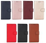 economico -telefono Custodia Per Huawei Integrale Custodia in pelle Porta carte di credito Honor 6X Honor 6A Mate 10 Mate 10 pro A portafoglio Porta-carte di credito Con supporto Tinta unica Resistente pelle