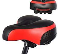 economico -Selle di bicicletta / Selle di bicicletta Extra largo Comfort Cuscino pelle sintetica Gel di silice Ciclismo Bici da strada Mountain bike Nero Rosso Blu
