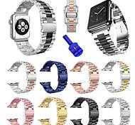 economico -Cinturino intelligente per Apple  iWatch 1 pcs Cinturino sportivo Strumenti fai da te Acciaio inossidabile Sostituzione Custodia con cinturino a strappo per Apple Watch Serie SE / 6/5/4/3/2/1 38