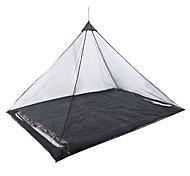 abordables -Hamac de camping avec moustiquaire Moustiquaire Extérieur Polyester Portable Poids Léger Respirable Anti-Moustique Ultra léger (UL) pour Pêche Randonnée Camping 2 personne Noir Vert 220*120 cm