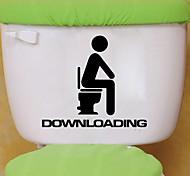 economico -adesivi per WC - adesivi murali animali animali soggiorno / camera da letto / bagno 15 * 13 cm