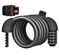 abordables -Câble Antivol de Vélo Antiusure Sécurité Facile à Installer Auto-enroulement Combinaison Réinitialisable Pour Vélo de Route Vélo tout terrain / VTT Vélo pliant Vélo à Pignon Fixe Cyclisme Alliage Noir