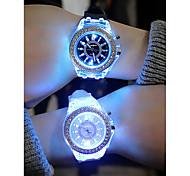 economico -Per donna Per uomo Orologio sportivo Orologio LED Analogico Quarzo Colorato Cronografo Creativo Luminoso / Un anno / Silicone