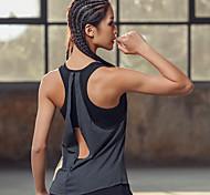 abordables -Femme Débardeur de soutien-gorge intégré de yoga 2 en 1 Dos ouvert Mode Grise Aptitude Exercice Physique Fonctionnement Débardeur Sans Manches Sport Tenues de Sport Poids Léger Respirable à Maintien