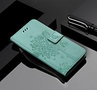 economico -telefono Custodia Per OnePlus Integrale Custodia in pelle Porta carte di credito One Plus 5 One Plus 3 OnePlus 5T OnePlus 6 A portafoglio Porta-carte di credito Con supporto Albero Resistente pelle