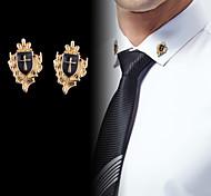 abordables -Homme Zircon Broche Le style rétro Croix Créatif Rétro Vintage Mode Rome antique Broche Bijoux Dorée Argent Pour Soirée Quotidien