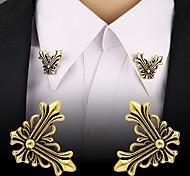 abordables -Homme Broche Rétro Tendance Créatif Fleur Mode Hip-Hop Rome antique Broche Bijoux Dorée Argent Pour Mascarade Travail