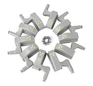 abordables -LED Night Light Détecteur Placard Armoire Autre alimenté par batterie 10pcs