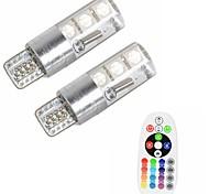 abordables -Automatique LED Feux de position latéraux T10 Ampoules électriques 500 lm SMD 5050 3 W 6 Pour 2 pièces