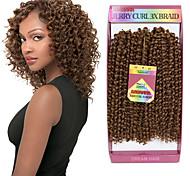 abordables -Crochet Hair Braids Frisé Jerry Box Braids Cheveux Synthétiques Rajouts de Tresses 3 racines / Il y a 3 pièces dans un paquet. Normalement 5-7 pack suffisent pour une tête pleine.
