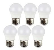 abordables -6pcs 3w 400lm e27 led globe ampoules décoratif blanc froid / blanc chaud lampadas ac220-240v sans scintillement intérieur led ampoules d'éclairage