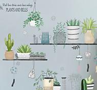 abordables -A fleurs / Botanique Stickers muraux Autocollants avion Autocollants muraux décoratifs, PVC Décoration d'intérieur Calque Mural Mur Décoration 1 set