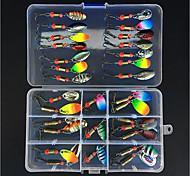 abordables -31 pcs Kit de leurre leurres souples Spinnerbaits Facile à Utiliser Affaissé Basse Truite Brochet Pêche en mer Pêche à la mouche Pêche d'appât