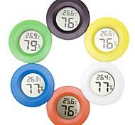 economico -mini termometro lcd igrometro pratico termometro rotondo da interno digitale igrometro display lcd misuratore di umidità della temperatura